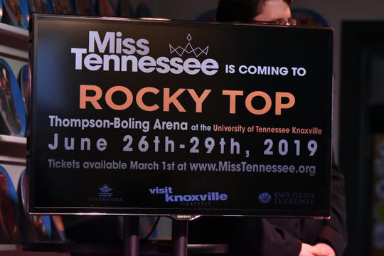 The 2019 Miss Tennessee competition will be held at Thompson-Boling Arena, June 26-29.