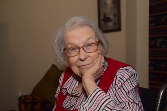 Charlene Asbury bright eyed at 92-years-old Wednesday, Jan 16.