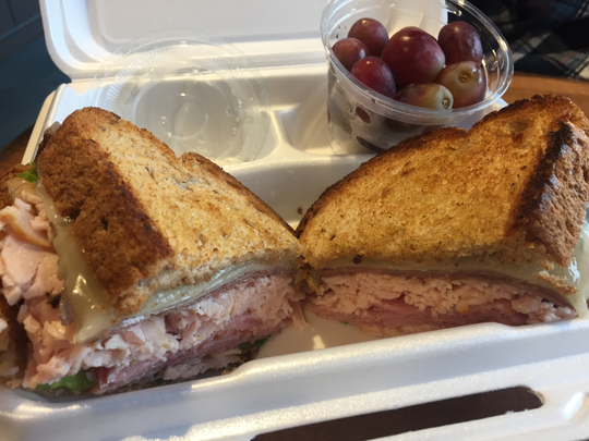 At the Tombras Café on Gay Street, you can order the Marble City Specialty, made with roast beef, ham, turkey, provolone, lettuce and tomato.