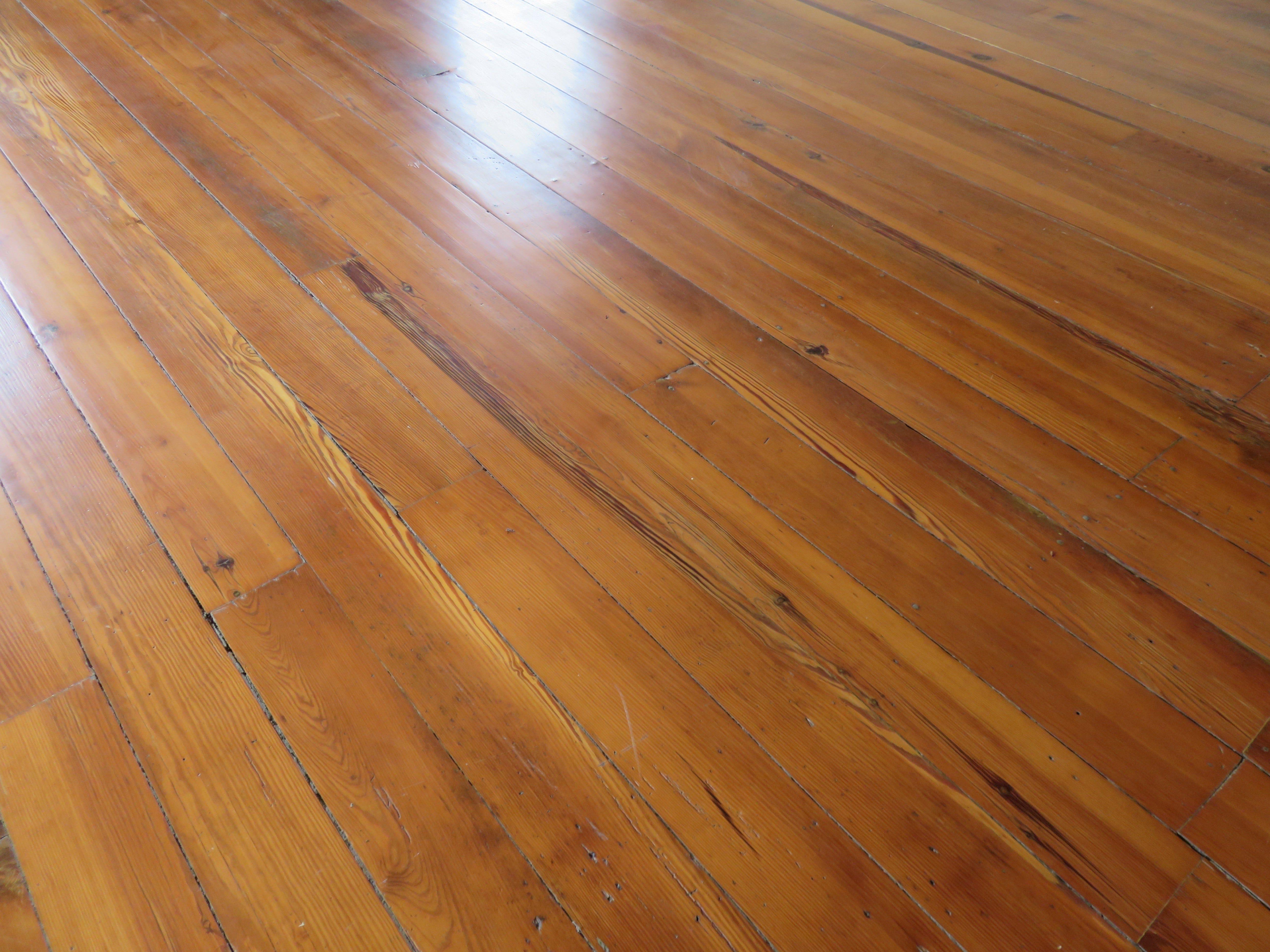 Original pine flooring remains on top floor of home.