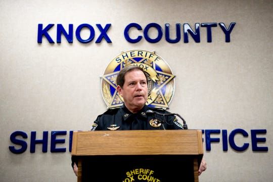 Knox County Sheriff Tom Spangler holds a press conference at the Sheriff's Office to discuss the outcome of an investigation into the Jan. 4 officer involved shooting on W. Emory Road in Knoxville, Tennessee on Friday, January 18, 2019.