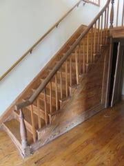 Vintage stairway inside Lones-Dowell home.