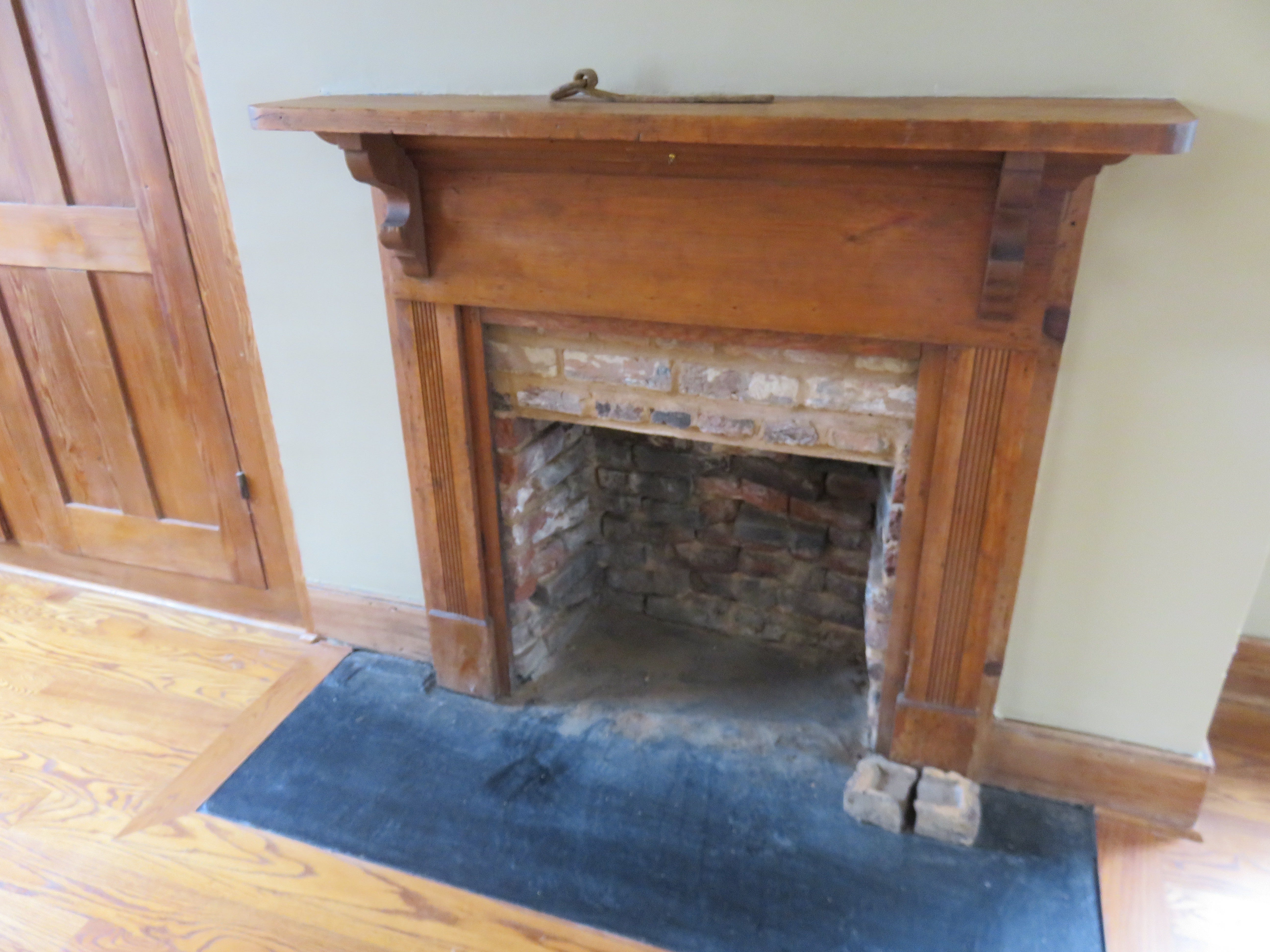 Another lower-floor fireplace, which, like the others, no longer operates.