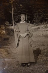 Charlene Asbury's graduation picture from Bell County High School in 1943
