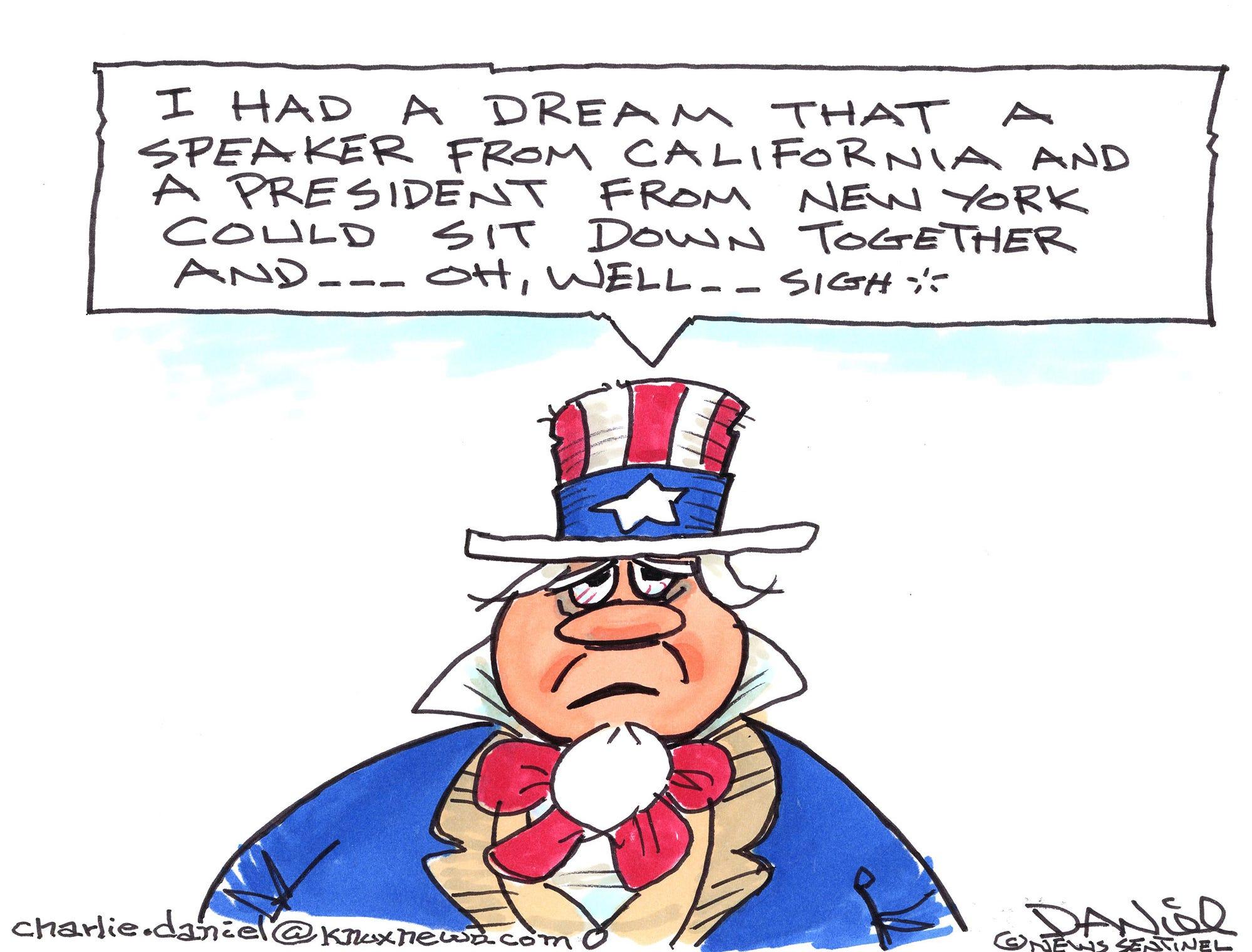Charlie Daniel cartoon for Jan. 21, 2019