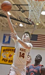 McCutcheon junior guard Rowen Farrell had a hot hand Thursday night against the Red Devils.