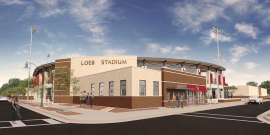 Renderings of new Loeb Stadium