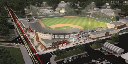 Renderings of new Loeb Stadium