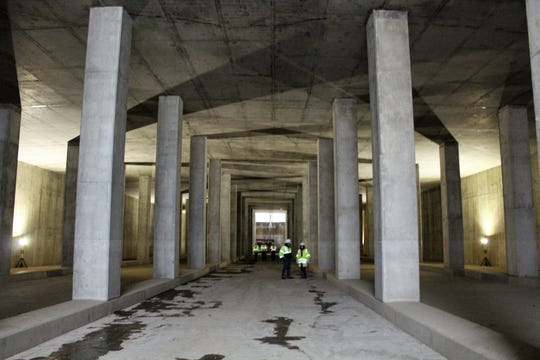 The new Combined Sewer Overflow Underground Storage Tank sits underground and runs the length of an NFL football field.