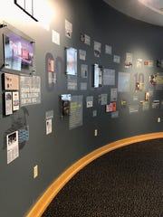 Part of the Purdue University Black Cultural Center historical installation features a detailed timeline, showcasing historical moments that created a local impact as well as global leaders who visited the center as well.