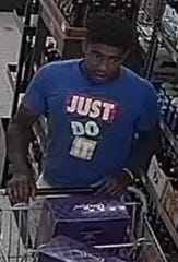 The Scott Police Department is asking for the public's assistance in identifying a suspect caught on surveillance shoplifting from stores around the city.