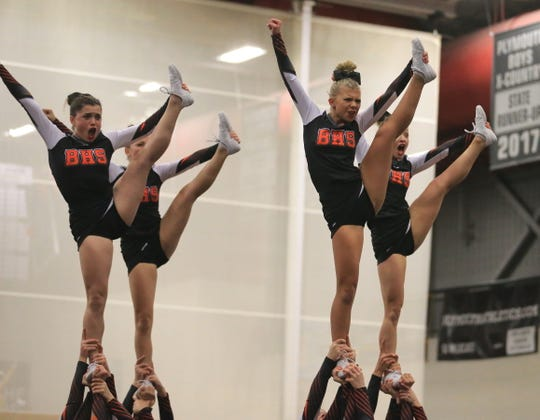 Brighton won the KLAA West competitive cheer meet.
