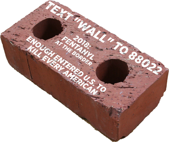 Donald Trump's reelection campaign is selling fake bricks.
