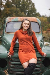 Diamond Parsons in a senior photo. She is senior class president at Eastern High School and involved in four sports. Her car was hit Jan. 13, 2019 near Frandor.