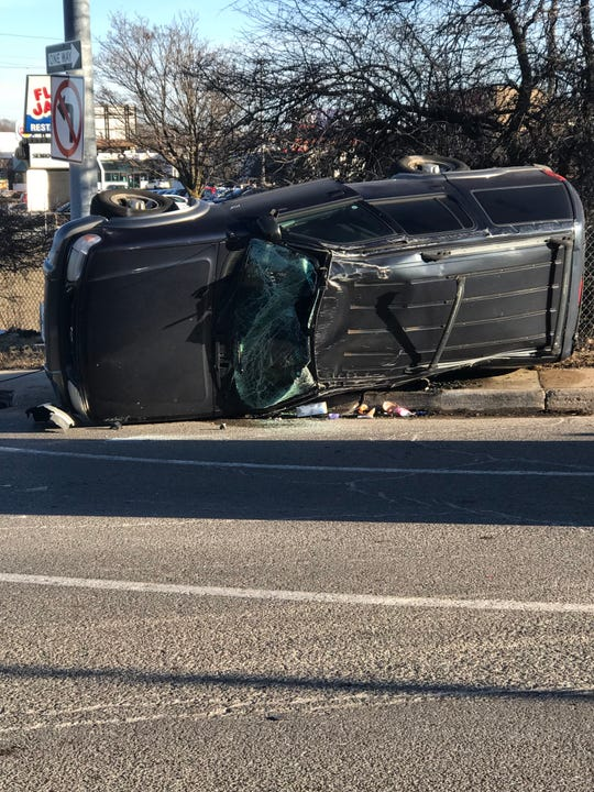 A photo taken by Diamond Parsons' mother, Teresa Aguilera, at the crash site, Jan. 13, 2019.
