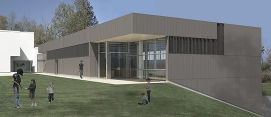 This artist's rendition shows what the Mansfield Art Center will look like after a 4,800-square-foot education wing is added.