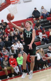 Clear Fork's Jared Schaefer makes a jump shot while playing at Shelby earlier in the season.