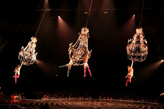 And we were swingin': Cirque du Soleil.