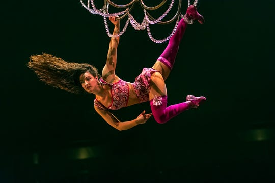 "They'll be swinging from the chandeliers during Cirque du Soleil's ""Corteo"" show."
