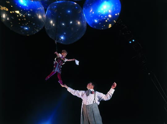 Up, up and away with Cirque du Soleil.