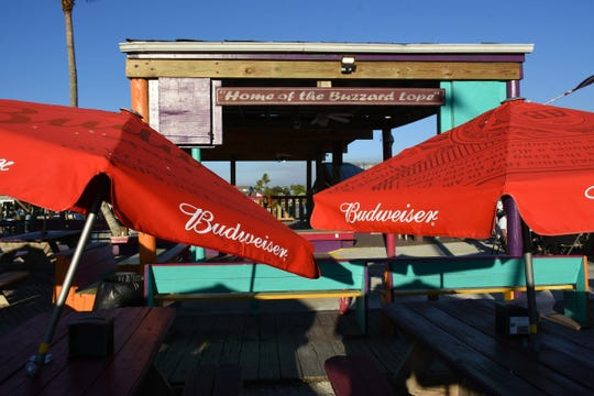 The stage at Stan's Idle Hour Restaurant awaits the Buzzard Lope dance contestants during the annual Mullet Festival. The tiny fishing village of Goodland will host three public events the weekend of Jan. 25 through 27.