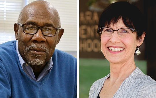 MPS School Board candidates Wendell Harris (left) and Erika Siemsen (right)