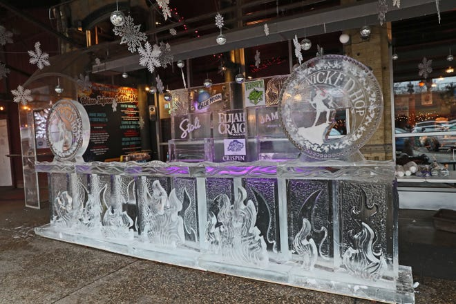The Wicked Hop's ice bar (this is last year's) is scheduled to open Jan. 17 - weather permitting.