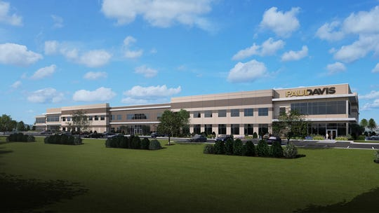 Paul Davis of Southeast and Fox Valley Wisconsin plans to move from Milwaukee to larger facilities in Pewaukee. This rendering shows the company's planned new headquarters.
