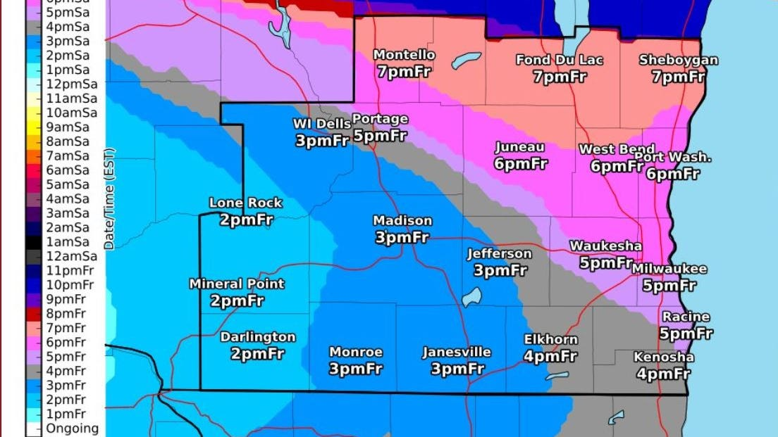 A winter storm warning has been issued for much...