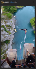 David Bakhtiari bungee jumping in New Zealand