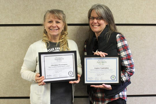 Christy Pennington (left) and Diahanne VanGulick recently became PAC Certified Independent Trainers and will begin leading a Dementia Carepartner Workshop Series this month.