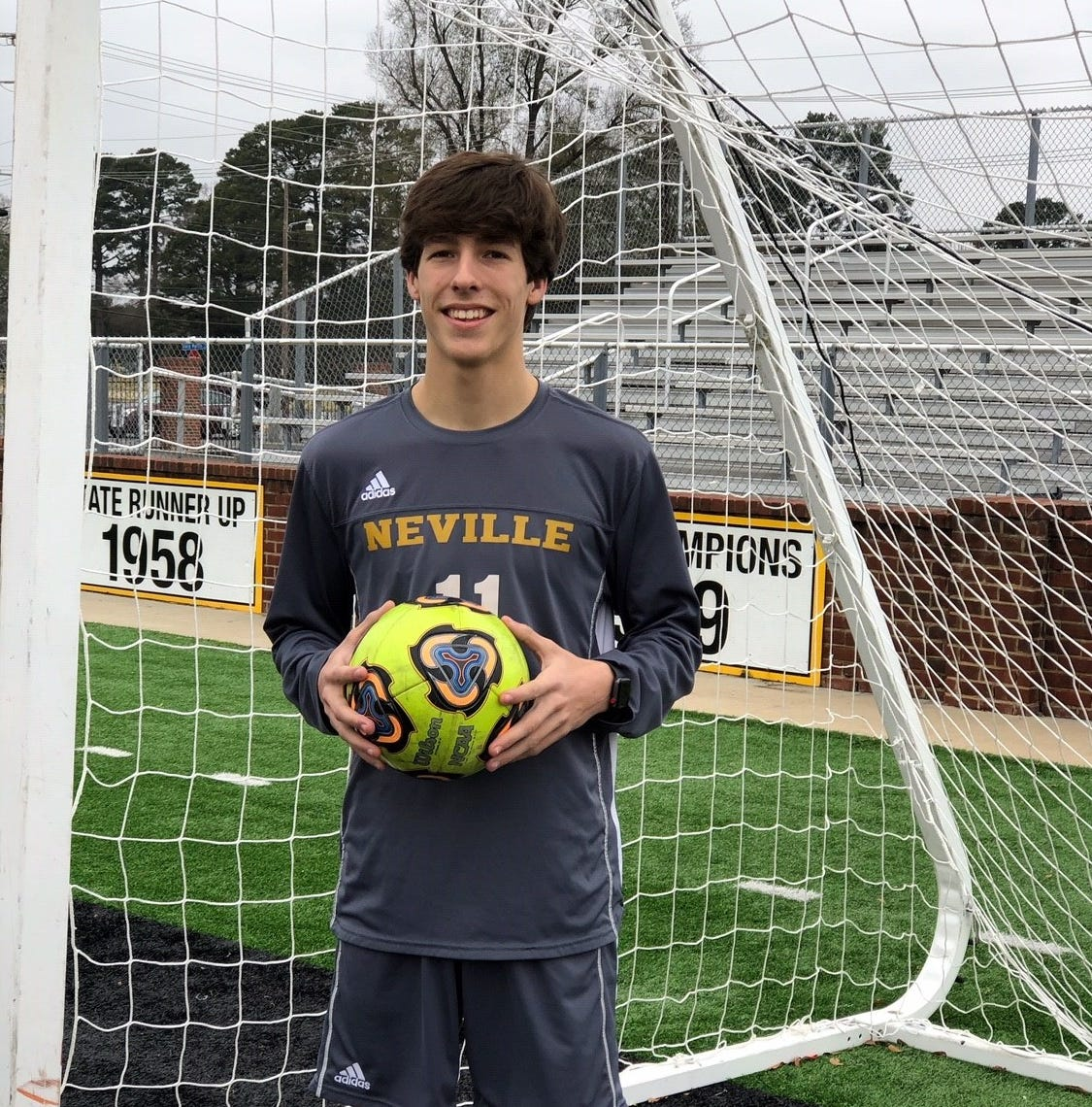 Neville boys soccer player Cameron King