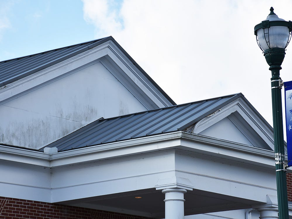 Fascia boards on Fairview City Hall are in need of repairs.