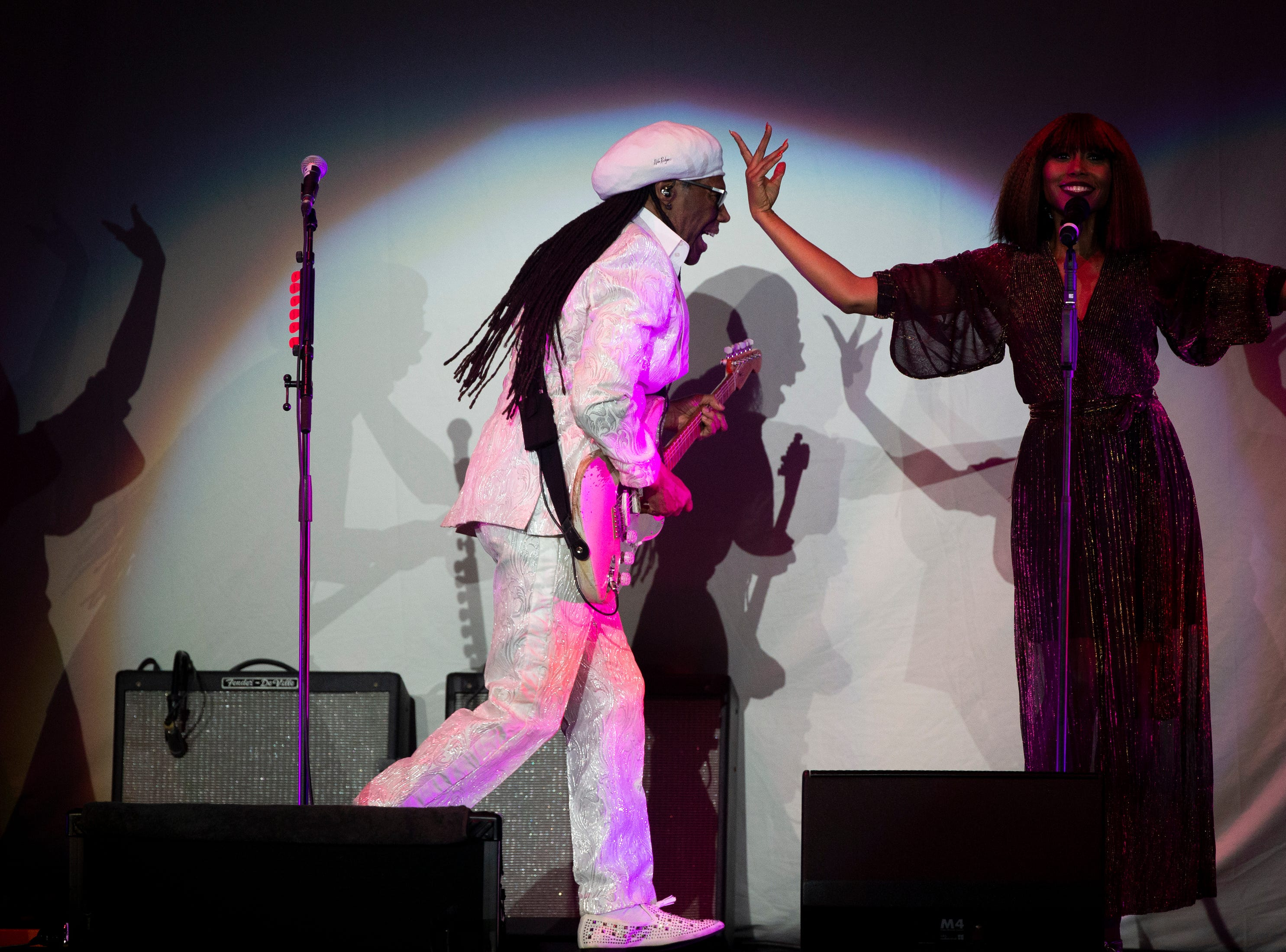 Nile Rodgers and Chic open up for Cher, Thursday, Jan. 17, 2019, at Hertz Arena in  Estero.