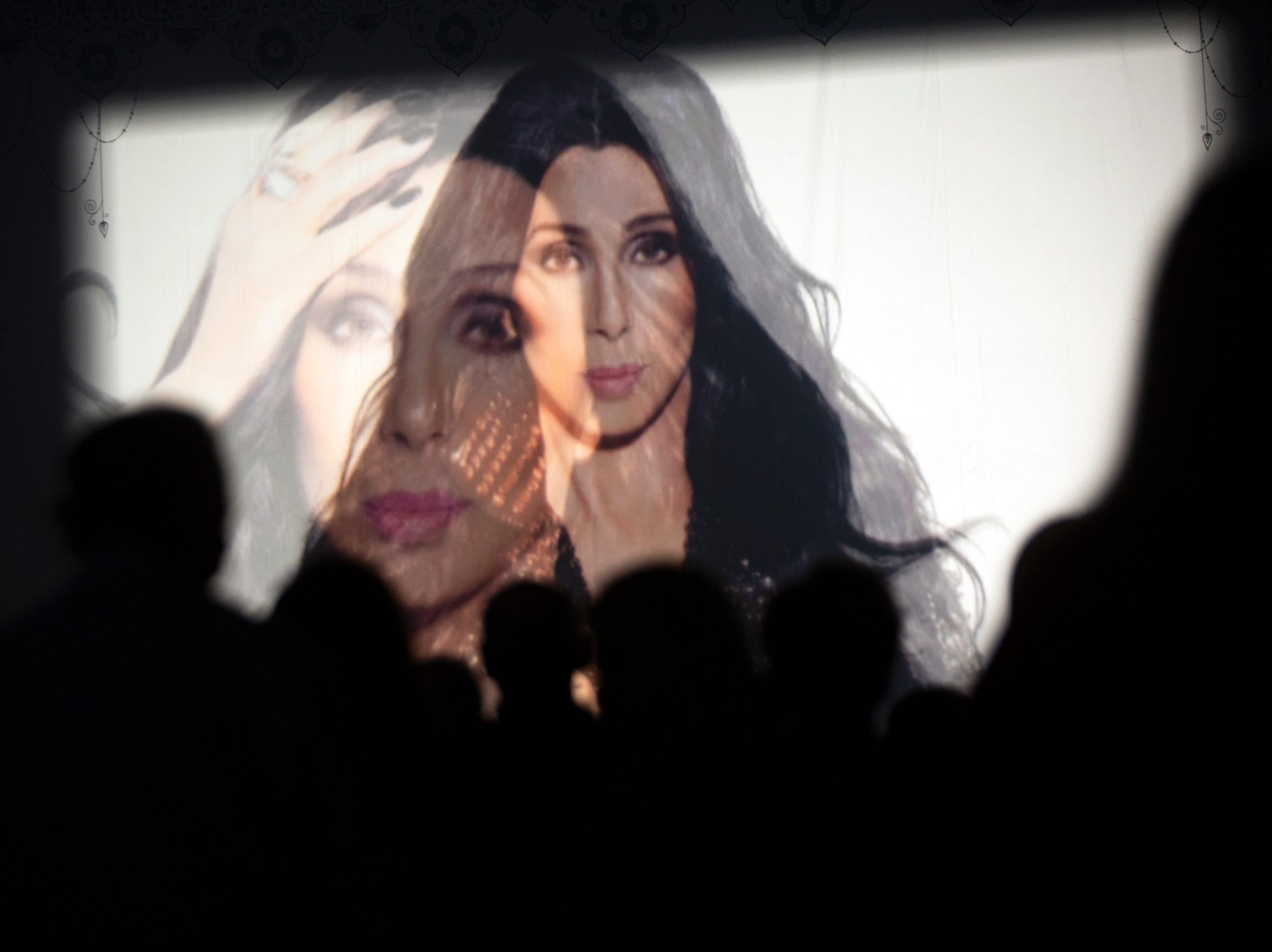An short film starts at the beginning of Cher's concert during the 'Here We Go Again' tour, Thursday, Jan. 17, 2019, at Hertz Arena in  Estero.
