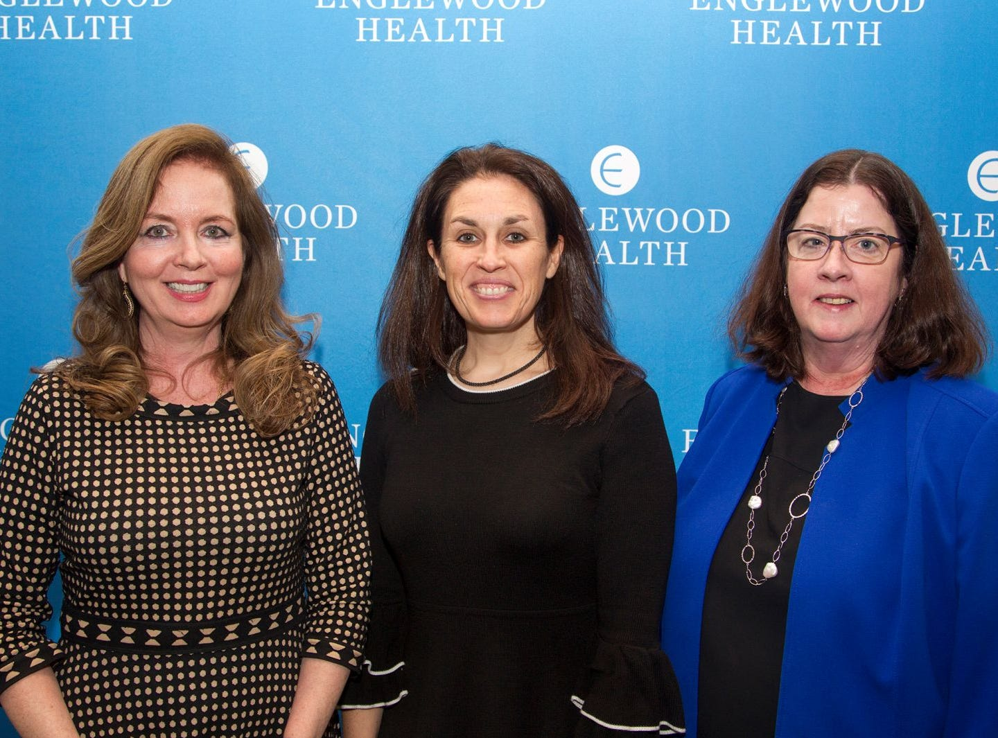 Claire Rizzo, Jamie Ketas, Kathy Kaminsky. EEnglewood Health held its annual Medical Staff Recognition Dinner at Rockliegh Country Club. 01/17/2019