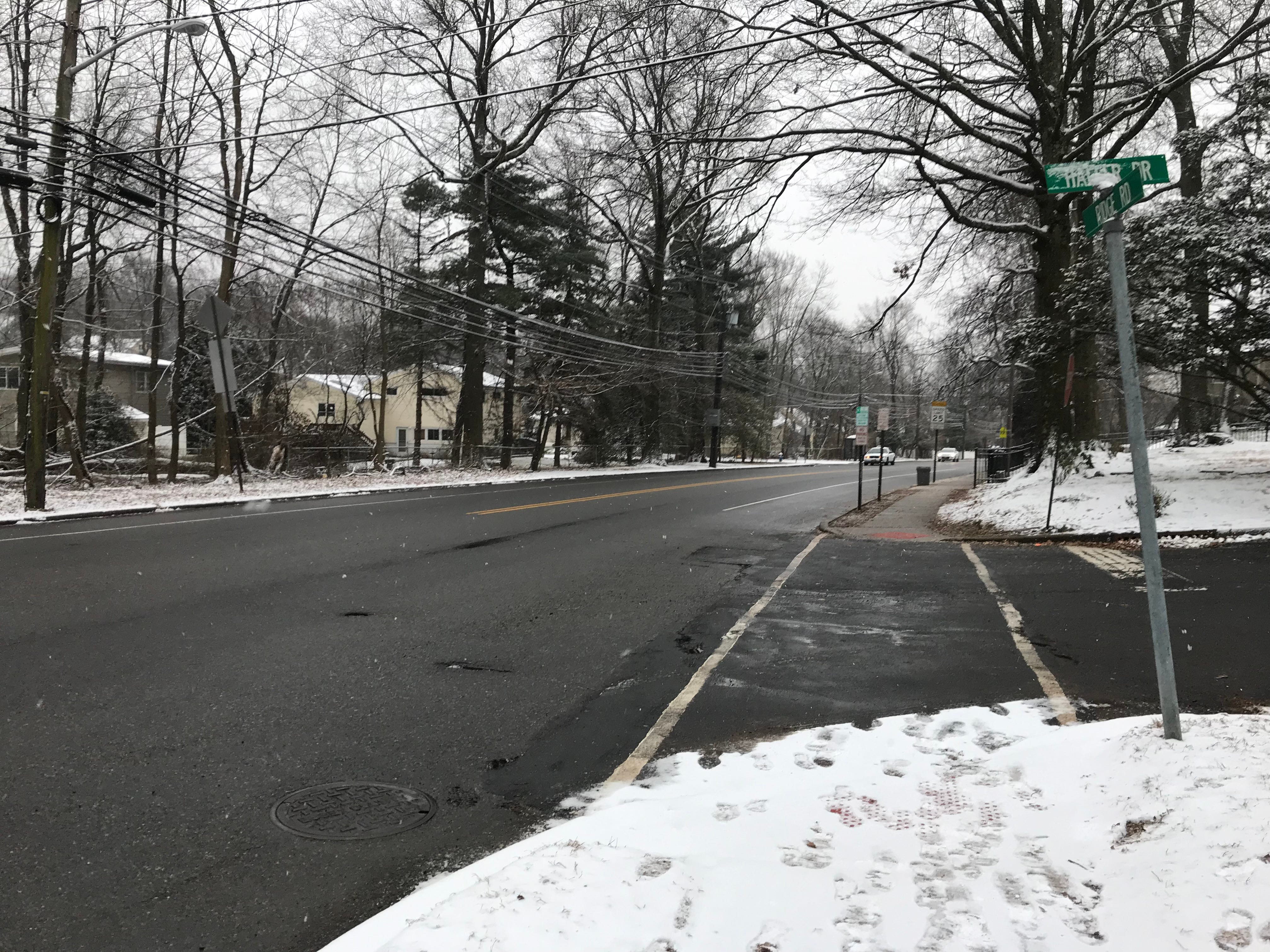 A light coating of snow hit Cedar Grove on Ridge Road Jan. 18, 2019.