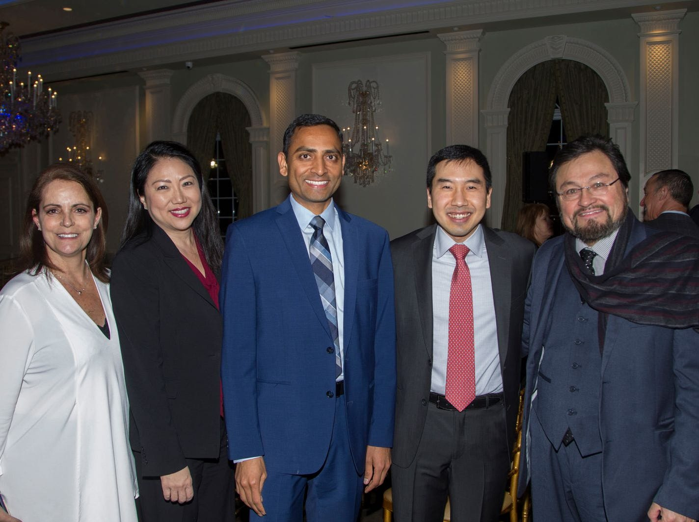 Dr. Diane Schwartz, Alicia Park, Ravikanth Koganti, Dr. Peter Shin,  Dr. Carols Quezade. Englewood Health held its annual Medical Staff Recognition Dinner at Rockliegh Country Club. 01/17/2019
