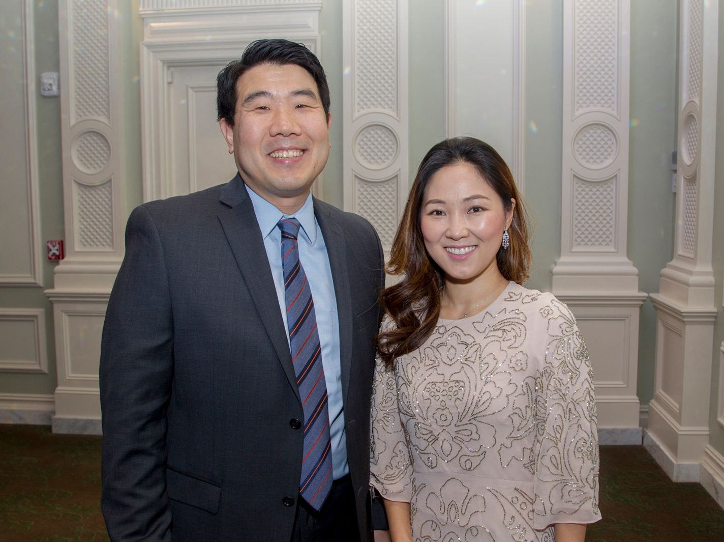 Dr. Anthony Kim and SJ Hung. Englewood Health held its annual Medical Staff Recognition Dinner at Rockliegh Country Club. 01/17/2019