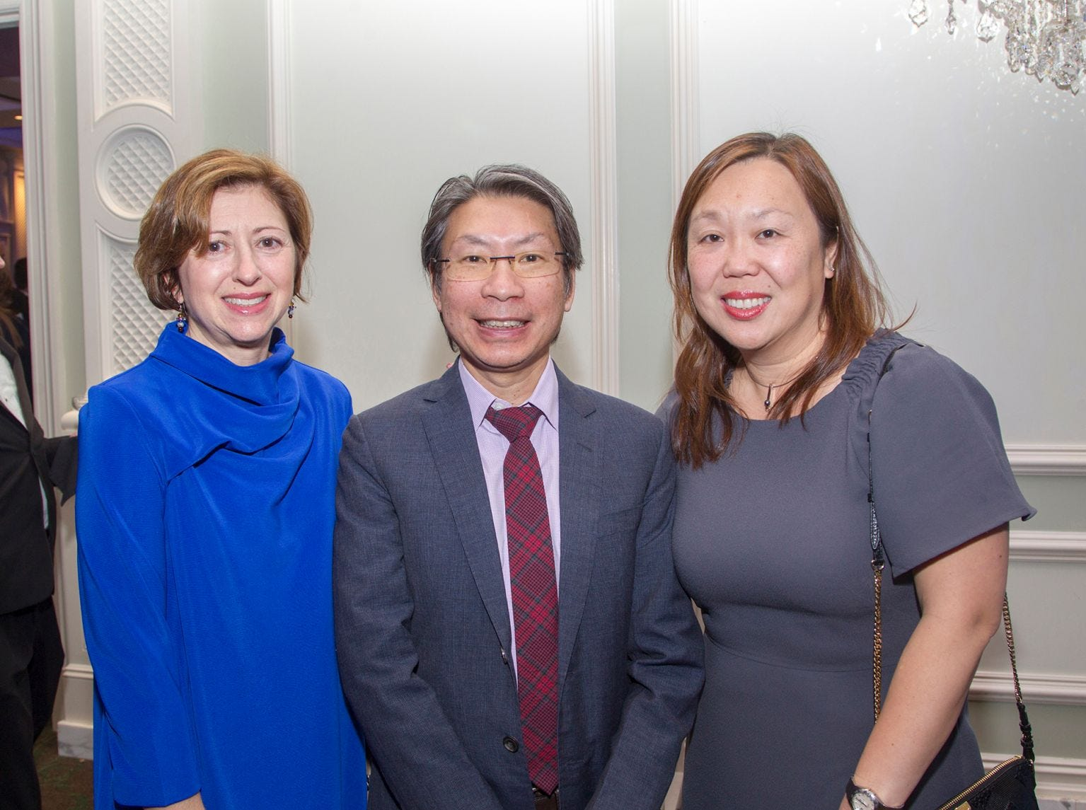 Dr. Leslie Borow, Dr. John Lui, Sin Lui. Englewood Health held its annual Medical Staff Recognition Dinner at Rockliegh Country Club. 01/17/2019
