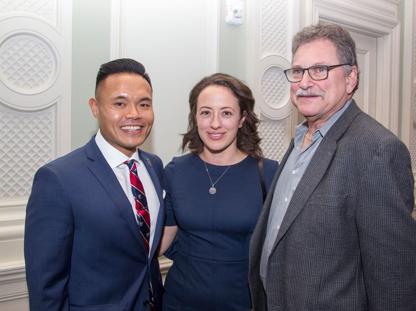 Dr. Rico Miguel Viseras, Eva Viseras, Dr. Ritchard Rosen. Englewood Health held its annual Medical Staff Recognition Dinner at Rockliegh Country Club. 01/17/2019
