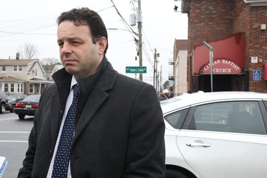 Paterson Mayor Andre Sayegh outside of the Canaan Baptist Church after he attended a viewing of Jameek Lowery before a funeral Mass on January 18, 2018 in Paterson. Jameek Lowery died Jan. 7 after being taken from police headquarters to St. Joseph's Medical Center. Authorities have not yet released an autopsy revealing the cause of his death.