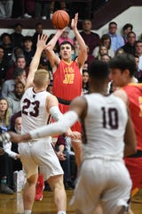 Zach Freemantle (32) and Bergen Catholic are seeded No. 1 in the North Non-Public A boys basketball tournament, while Victor Konopka (23) and two-time defending champion Don Bosco are seeded No. 4.