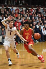 Kyle Maurer (1) and Don Bosco are No. 1 in the NorthJersey.com boys basketball Top 25 after a 56-54 victory over then-No. 1 Bergen Catholic on Thursday, January 17, 2019.