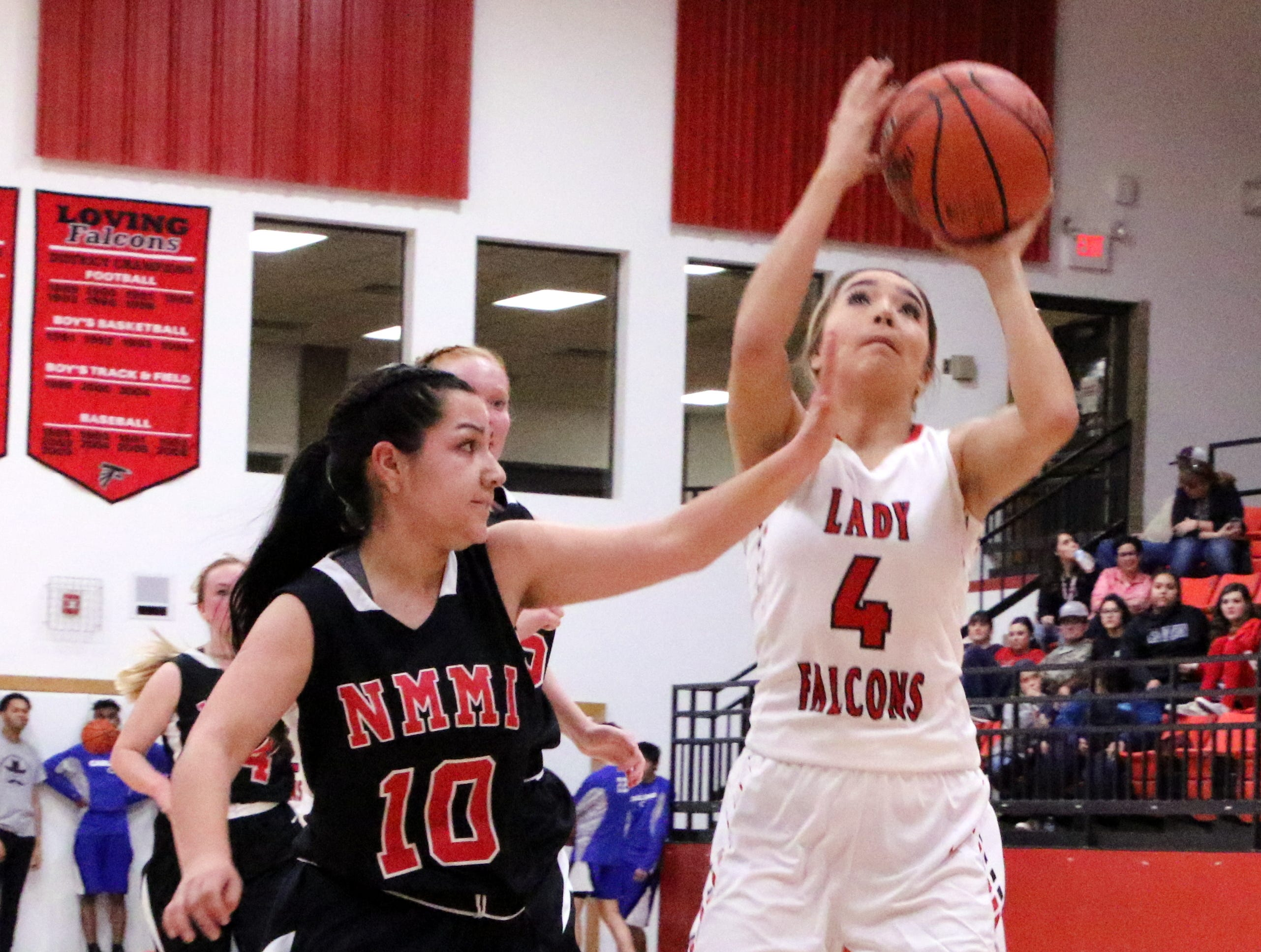 Second half highlights from Loving's game against NMMI on Jan. 17, 2019. The Lady Falcons beat the Colts, 59-44.