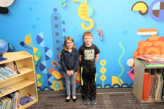 """Elizabeth Swanner and Aiden Crow are proud and excited to be Sierra Vista Primary's """"Student Spotlight"""" award winners."""