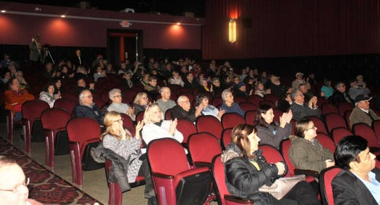 Plymouth's Penn Theater served as the site of Wednesday's 'Future of PARC' public forum.