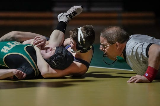 Sophomore Alec Hunter said this season is his best yet. He is one of the top-ranked state wrestlers at the 106 weight class.