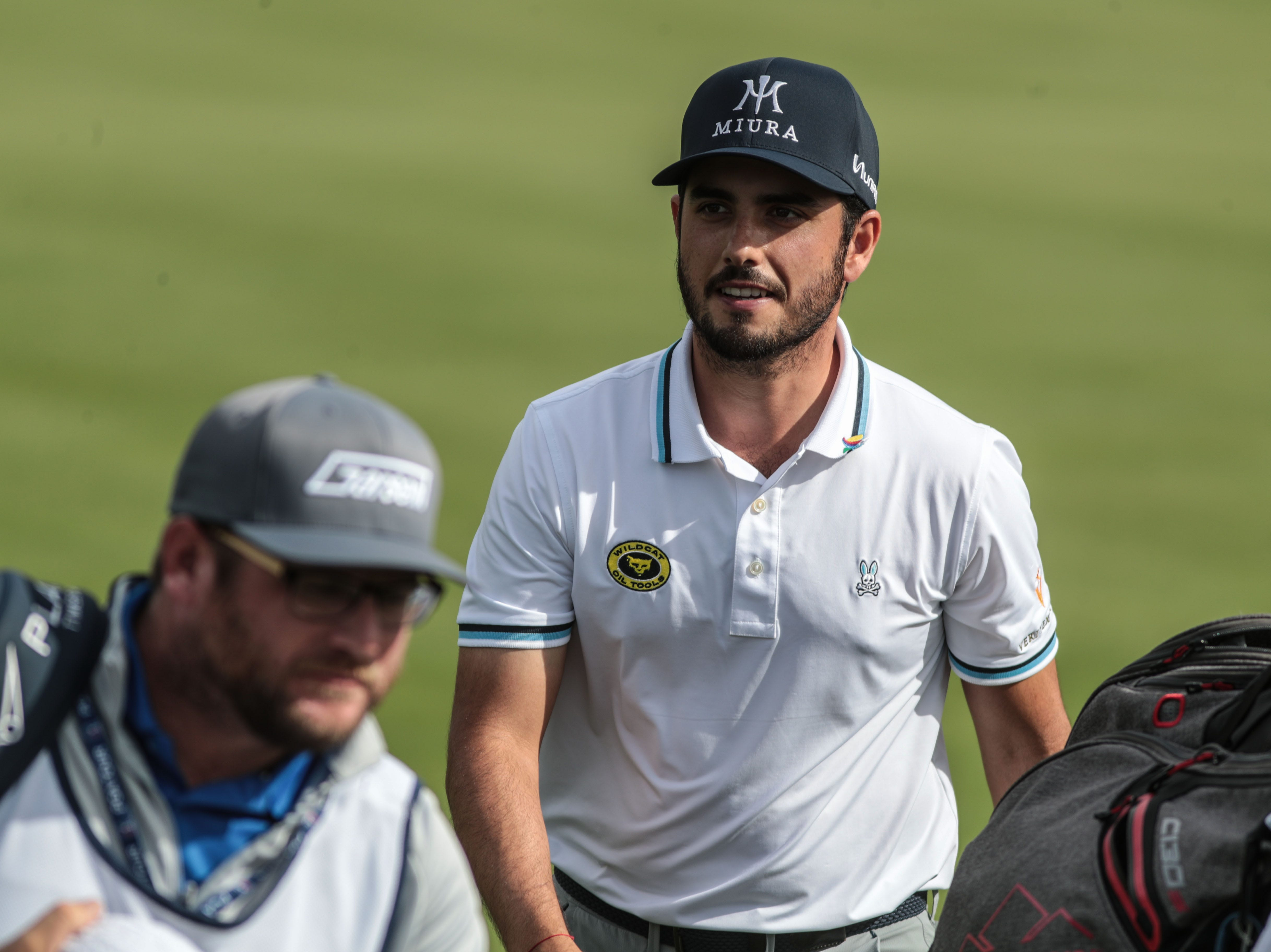 Abraham Ancer on 9 on the Nicklaus Tournament Course at PGA West in La Quinta during the 2nd round of the Desert Classic on Friday, January 18, 2019.