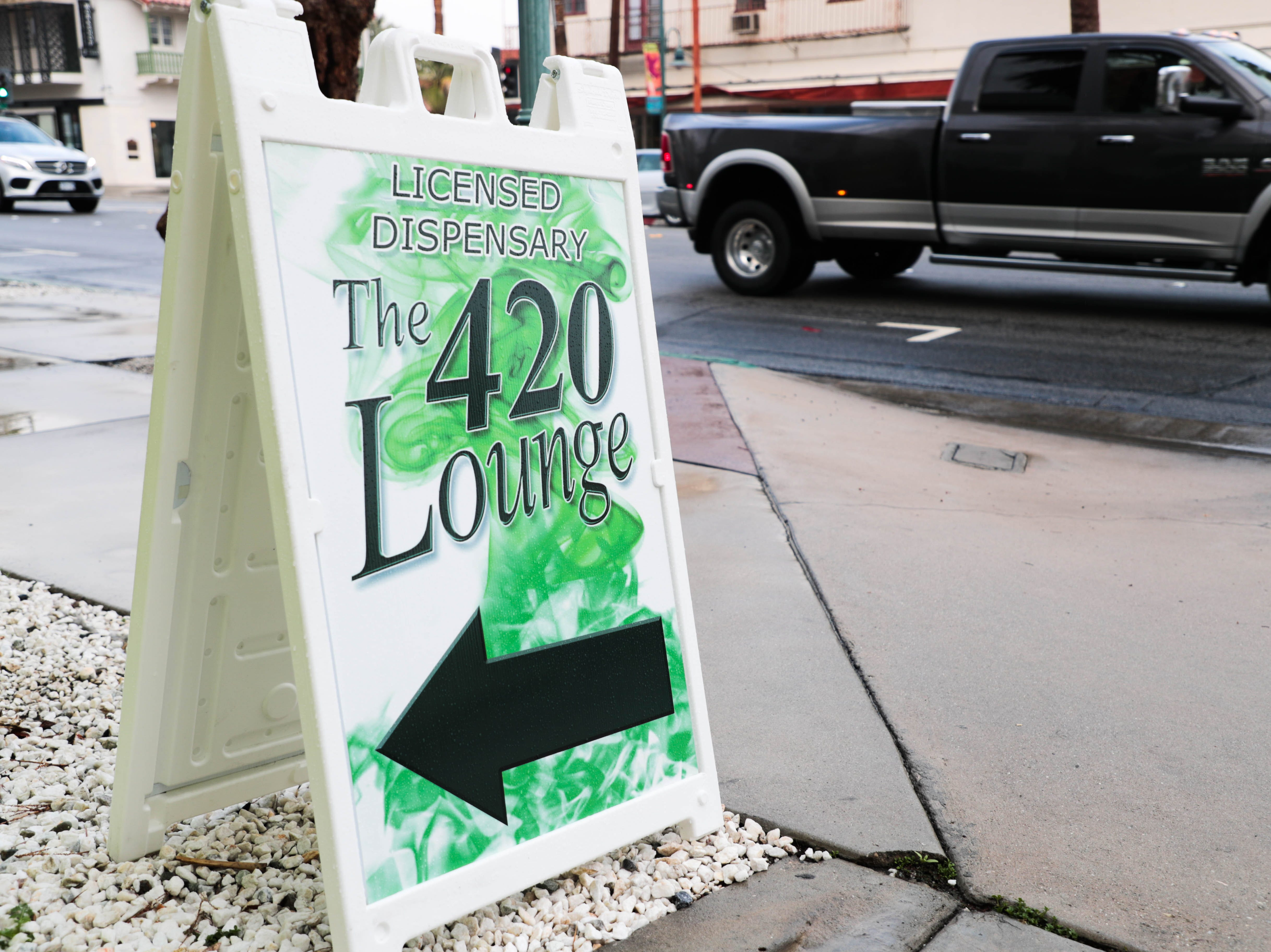The 420 Lounge is the first legal cannabis smoking lounge in Palm Springs, Calif.